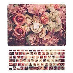 Top Case 2 In 1 Floral Rubberized Hard Case + Keyboard Cover