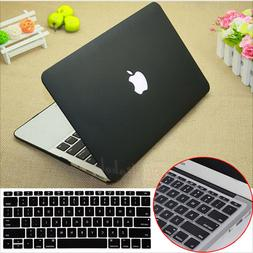 2in1 Black Rubberized Hard Case Cover Cut-out for MacBook Pr