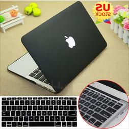 2in1 Black Rubberized Hard Case+Keyboard Cover for MacBook A