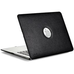 Kuzy - AIR 13-inch BLACK Leather Hard Case for MacBook Air 1