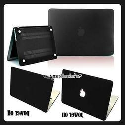 Black Hard Rubberized Case Cover for Apple Macbook AIR 13 in