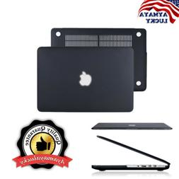 Black Rubberized Matte Hard Shell Case Protect for MacBook P