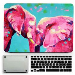 Elephant Animal Oil Painted Hard Rubberized Case Cover for M