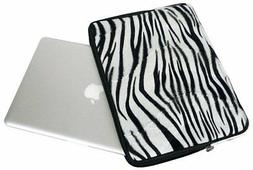 Faux-fur Zebra Animal Print Carrying Case Sleeve for Apple 1