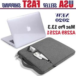 """Fr Macbook Pro 13"""" A2289/A2251 Clear Hard Shell Case Cover S"""