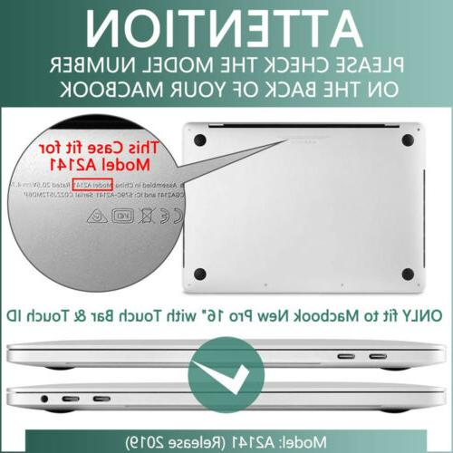 """For 2019 16"""" Rubberized Hard Case Cover A2141 Cover LCDFilm"""