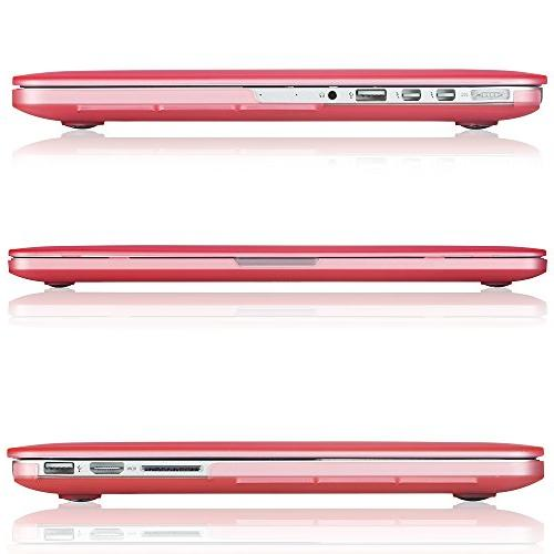 Kuzy Rubberized Case for Pro with Retina Display 13-inch Plastic Shell - PINK