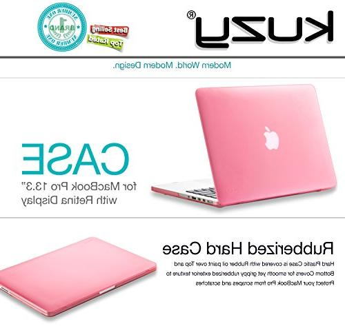 Kuzy Case Pro with Retina Display A1502 / 13-inch Plastic Shell - PINK