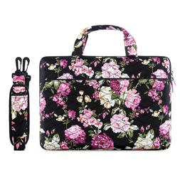 Mosiso Laptop Bag Canvas Floral Case for Macbook Dell Acer H