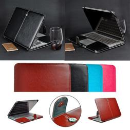 Laptop PU Leather Folio Case Shell Protect Cover for MacBook