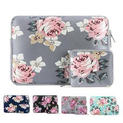 Laptop Zipper Floral Sleeve Case 13 13.3 15 15.6inch for Mac