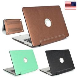 Leather Hard Case Cover For Macbook Pro 13 Retina 15 12 Inch