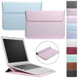 Leather Laptop Sleeve Bag Pouch Case Cover For MacBook Air P