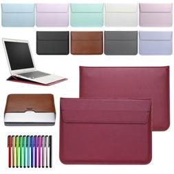 For MacBook Air Pro 11 12 13 Inch Retina PU Leather Pouch Sl