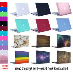 For MacBook Pro 13 Rubberized Hard Case Cover + Keyboard Cov