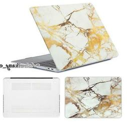 Marble Design Rubberized Shell Case Cover For 2018 New MacBo