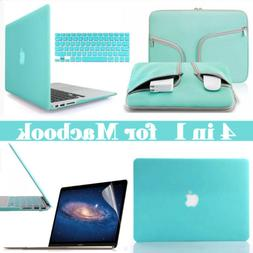 Teal Blue Carry Bag Hard Case Keyboard / LCD Cover for Macbo