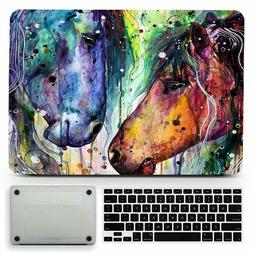 Watercolor Horse Animal Painting Hard Matte Case Cover for M